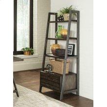 Deponte Weathered Gunmetal Tapering Bookcase