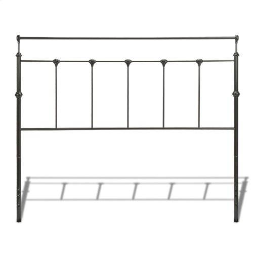 Winslow Complete Metal Bed and Steel Support Frame with Castings and Straight Top Rails, Mahogany Gold Finish, King