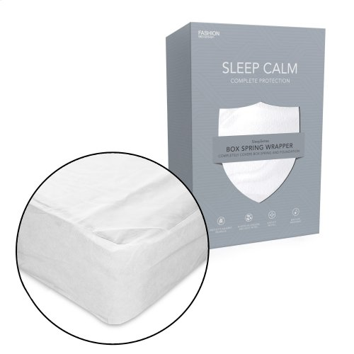Sleep Calm Zippered Nonwoven Box Spring Encasement with Bed Bug Defense, King