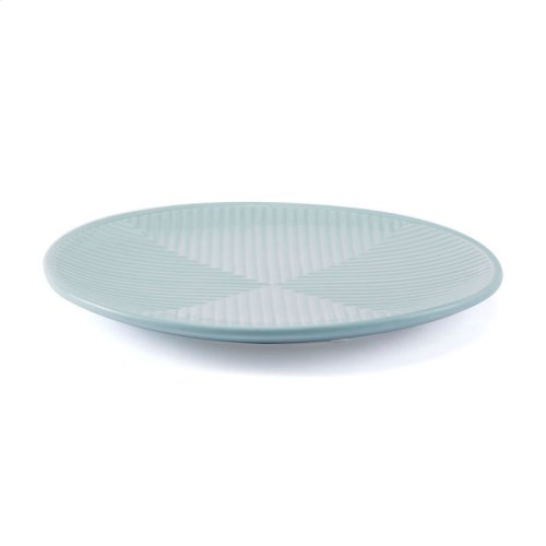 Herringbone Plate Blue