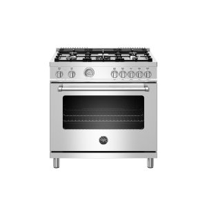 Bertazzoni36 inch Dual Fuel Range, 5 Burner, Electric Oven Stainless
