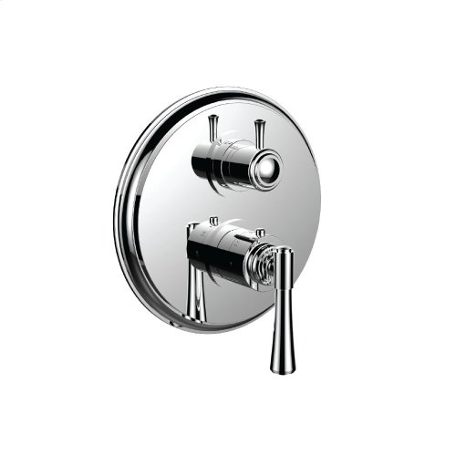 """7098ha-tm - 1/2"""" Thermostatic Trim With 3-way Diverter Trim (shared Function) in Polished Chrome"""