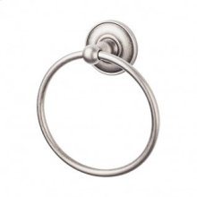 Edwardian Bath Ring Plain Backplate - Antique Pewter