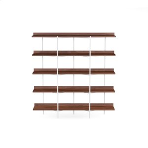 Bdi FurnitureShelving System 5305 in Toasted Walnut Satin White