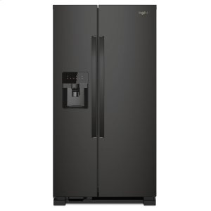 36-inch Wide Side-by-Side Refrigerator - 25 cu. ft. - BLACK