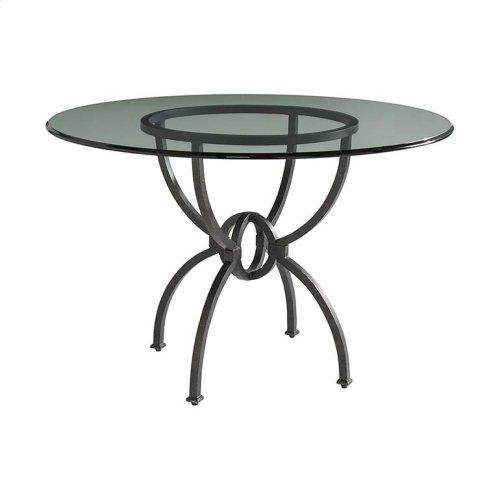 "Custom Dining 60"" Patina Table w/Round Tall"