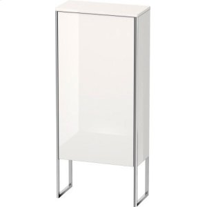 Semi-tall Cabinet Floorstanding, White High Gloss Lacquer