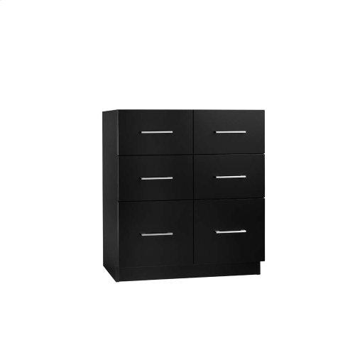 "Lassen 30"" Eco-Friendly Bathroom Vanity Cabinet Base in Black"