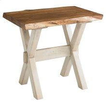 Bench*Made Maple Crossbuck Live Edge End Table