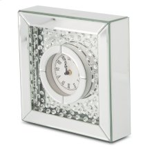 Table Clock W/crystal Accents