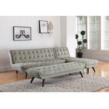 Natalia Mid-century Modern Dove Grey Bench