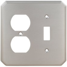 Combination Traditional Switchplate in (US15 Satin Nickel Plated, Lacquered)