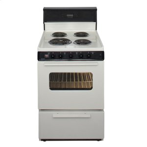 Premier24 in. Freestanding Electric Range in Biscuit
