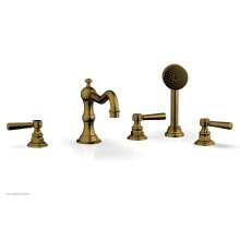 HENRI Deck Tub Set with Hand Shower with Lever Handles 161-49 - French Brass