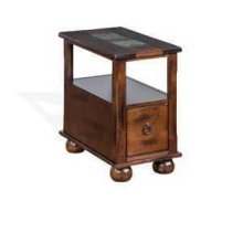 Santa Fe Chair Side Table w/ Drawer