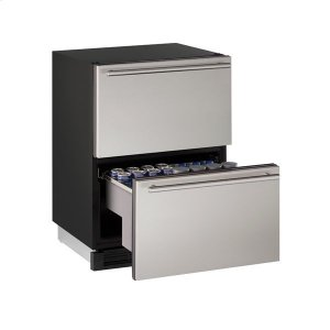 "U-Line1224dwr 24"" Refrigerator Drawers With Stainless Solid Finish (115 V/60 Hz Volts /60 Hz Hz)"