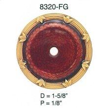 Newport Back Plate Garnet/ Matching Knob - 7346/2