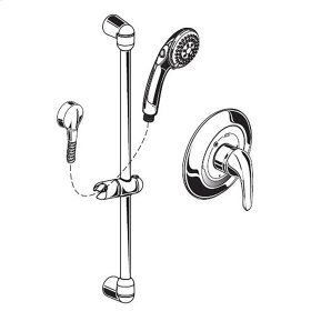 FloWise Commercial Shower System, 1.5 gpm, Less Valve - Polished Chrome