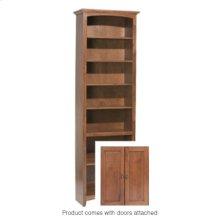 """GAC 84""""H x 24""""W McKenzie Alder Bookcase w/doors"""