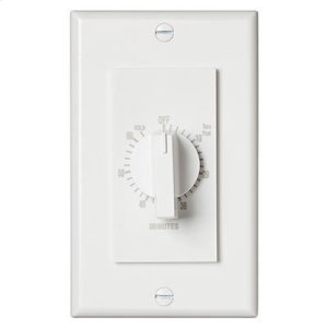 """Broan60 Minute Time Control, with """"continuous on"""" feature. White, 20 amps, 120V"""