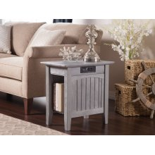 Nantucket Chair Side Table with Charger Driftwood Grey