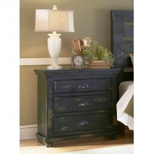 Nightstand - Distressed Black Finish