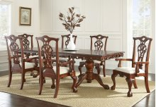 Aretha Double Pedestal Table with Leaf