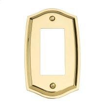 Polished Brass Colonial Single GFCI