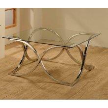 Contemporary Nickel Coffee Table
