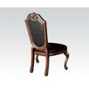 Side Chair With Black Pu @n