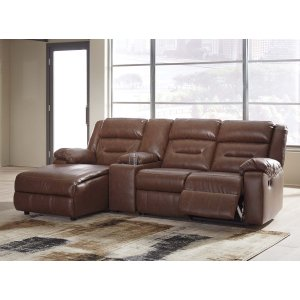 Ashley Furniture Coahoma - Chestnut 4 Piece Sectional