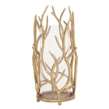 Gold Branches Hurricane Candle Holder, Large