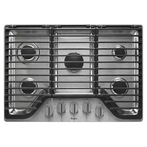 30 inch 5 Burner Gas Cooktop with EZ-2-Lift Hinged Cast-Iron Grates Product Image