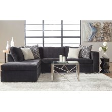 Ultimate Ebony / Memphis Ivory / Classy Alloy Sectional