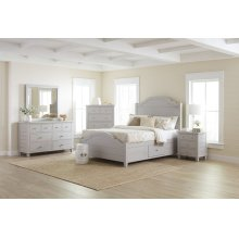 Chesapeake Dove 3 Piece King Bedroom Set: Bed, Dresser, Mirror
