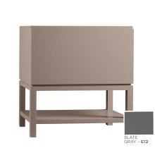 """Jenna 31"""" Bathroom Vanity Base Cabinet in Slate Gray"""