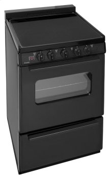 24 in. Freestanding Smooth Top Electric Range in Black