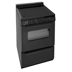 Premier24 in. Freestanding Smooth Top Electric Range in Black