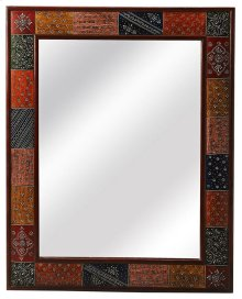 Large rectangular mirrors have always allured womenfolk as traditional vanity mirrors. This ornate and artistic mirror- a perfect choice for your decor as it is framed with bas-relief patterns in different antique colors. Add character and life to the oth
