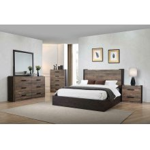 Weathered Oak and Rustic Coffee Queen Bed