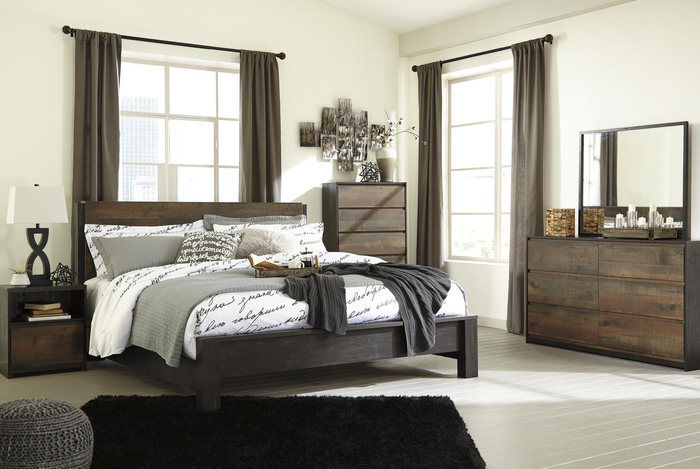 B320b6 Ashley Furniture Windlore Dark Brown 3 Piece Bed
