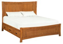LSO Prairie City King Panel Storage Bed