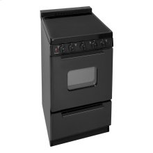 20 in. Freestanding Smooth Top Electric Range in Black