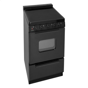 Premier20 in. Freestanding Smooth Top Electric Range in Black