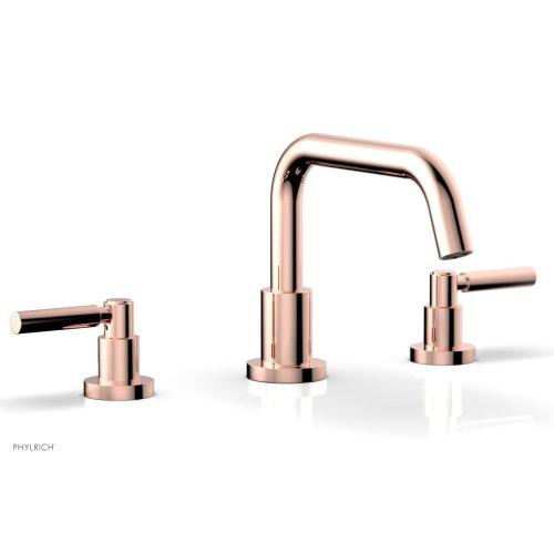 BASIC Deck Tub Set - Lever Handles D1132D - Polished Copper
