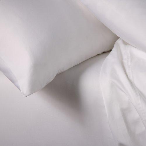 Sleep Plush + White 4-Piece 500 Thread Count Cotton Bed Sheet Set, California King