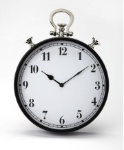 This steel and aluminum wall clock's design is reminiscent of a traditional pocket watch. The analog numbers are easily legible from any distance. Its black framing gives this transitional piece a look of traditional elegance that blends well with any dec Product Image