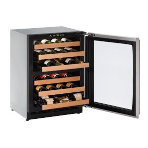 """U-Line2000 Series 24"""" Wine Captain(r) Model With Stainless Frame Finish and Field Reversible Door Swing (115 Volts / 60 Hz)"""
