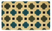 Doormat Dylan Blue/Green 18x30