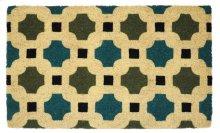 Doormat Dylan Blue/Green 18x30